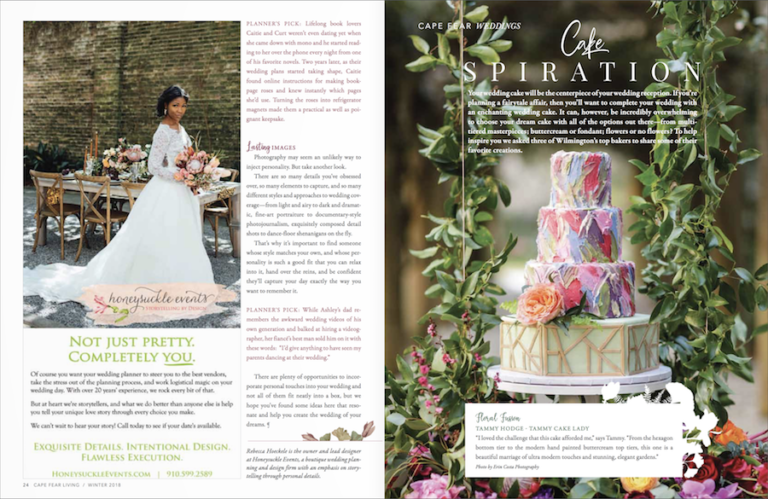 Read more about the article Published in Cape Fear Living Magazine Weddings